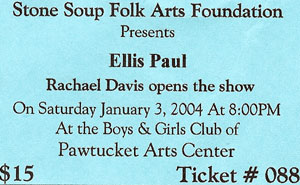 Ticket to See Ellis Paul at Stone Soup