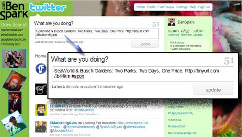 Example of a Sponsored Tweet