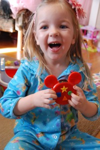 Eva Enjoying her new Mickey Mote with Minnie's Masquerade DVD