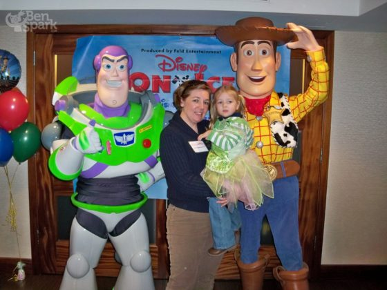 Allison and Eva Meet Woody and Buzz