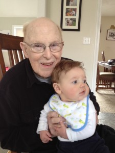 Andrew with Great-Grandpa