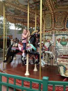 On the Carousel in Downtown Disney