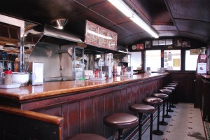The Interior of Casey's Diner Natick, MA.