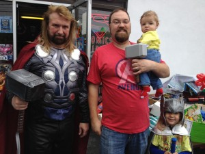 Family photo with Thor (aka Randy from Wild Time Comics)