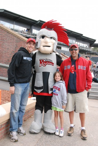 The Hot Dog Man and family with the Nashua Silver Knight
