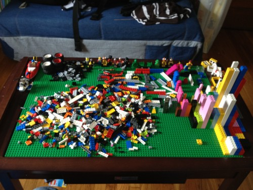 Organize this pile of Bricks. Yikes.
