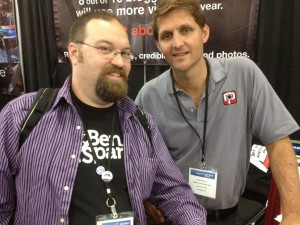 Me with Michael from RawPorter at BWENY 2012