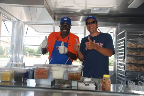 Larry Joe with The Hot Dog Man Rob Merlino