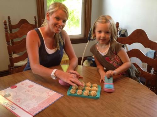 rolling cake balls