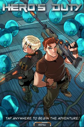 Hero's Duty Interactive Comic Book