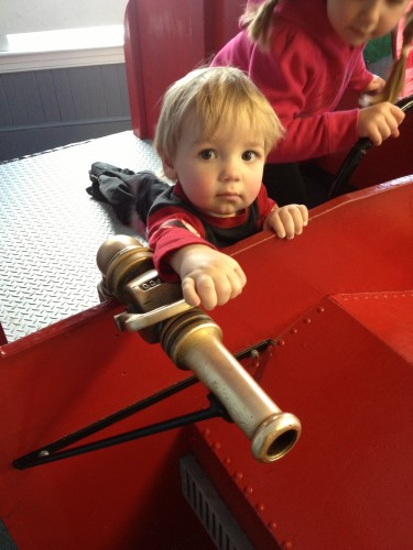 Andrew as the Little Fireman at the Children's Museum in Easton