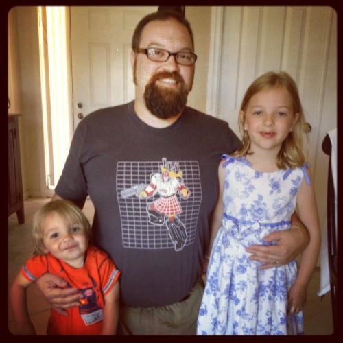 Kids and I with my Father's Day gift.