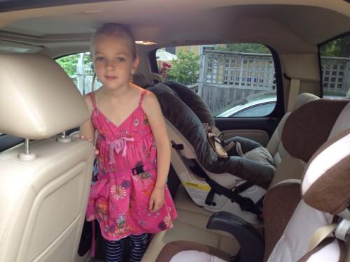 Plenty of room in the back seat of the GMC Sierra Denali