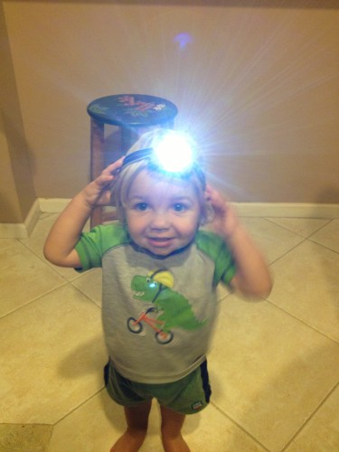 This Energizer Headlight is BRIGHT Daddy!