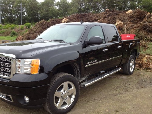 Dropping off some leaves with the GMC Sierra Denali
