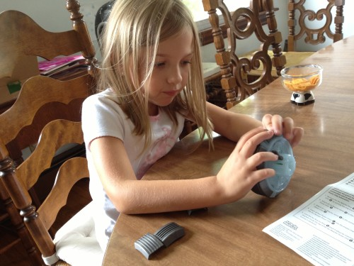 Eva building the Iron Man Arc Reactor
