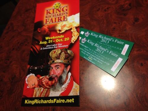 King Richard's Faire Tickets
