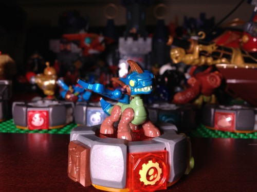 Drobot on his MEGA Blocks Battle Portal - Skylanders Giants