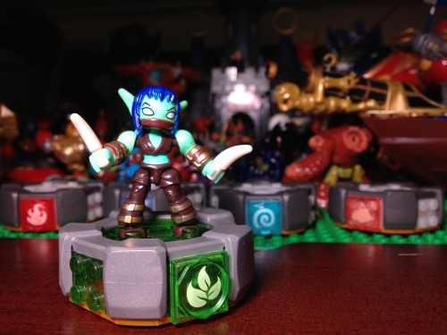 Stealth Elf on her MEGA Blocks Battle Portal - Skylanders Giants