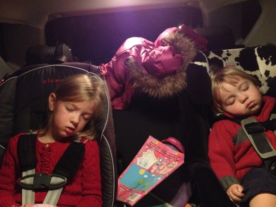 The Train to Christmas Town knocked them out.