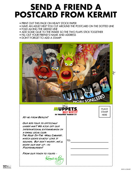 Send a Postcard from Kermit