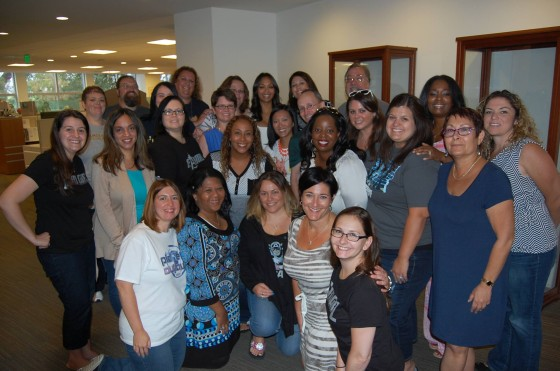 Group photo with Zoe Saldana