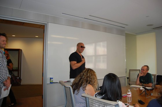 Vin Diesel enjoyed his reception from the Mommy Bloggers