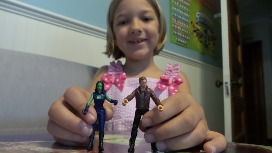 Eva with Gamora and Star-Lord