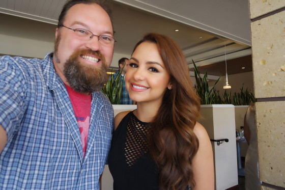 With Aimee Carrero who plays  Sofia Rodriguez from Young and Hungry