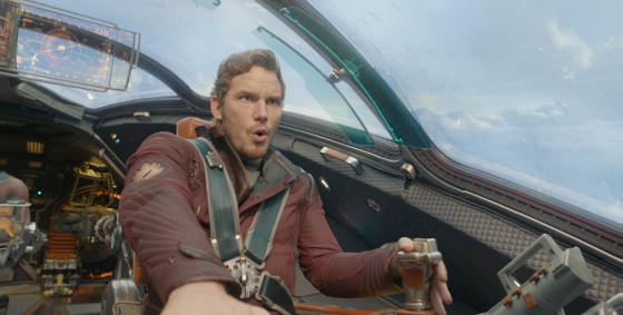 Peter Quill Piloting The Milano