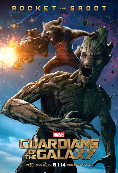 Rocket and Groot Character Poster