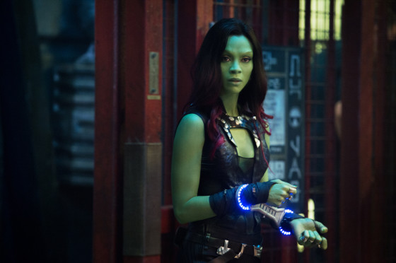 Gamora played by Zoe Saldana