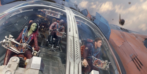 Film Frame from Guardians of the Galaxy