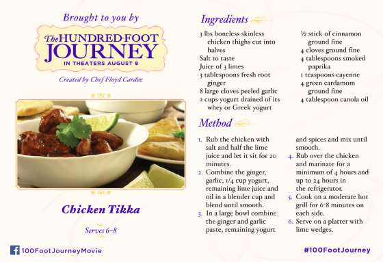 Chicken-Tikka - The Hundred-Foot Journey - Foodie Friday