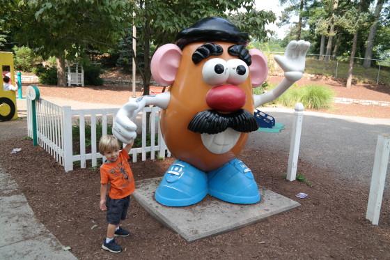 Andrew with Mr. Potato Head