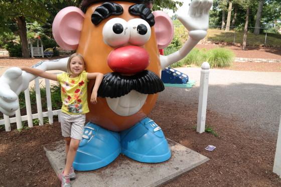 Eva with Mr. Potato Head