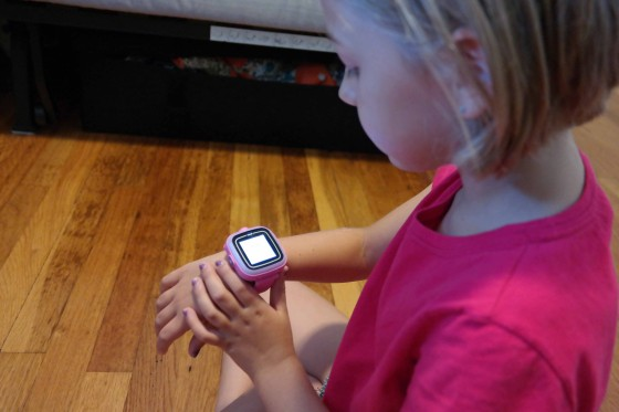 Eva with the VTech Kidizoom Smartwatch