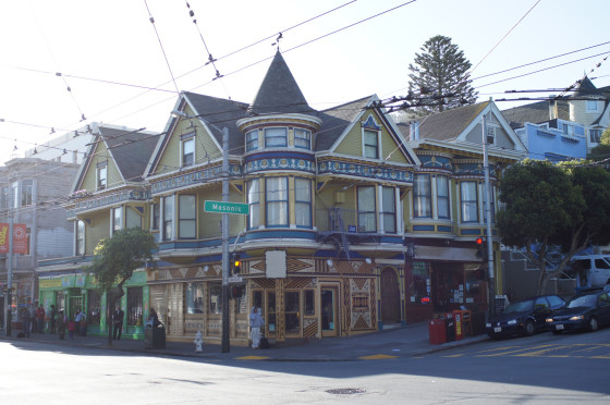 """""""BIG HERO 6"""" – (Progression Image 1 of 3) Filmmakers combed the streets of San Francisco to find this architectural gem that  served as the inspiration for Aunt Cass's Cafe. ©2014 Disney. All Rights Reserved."""