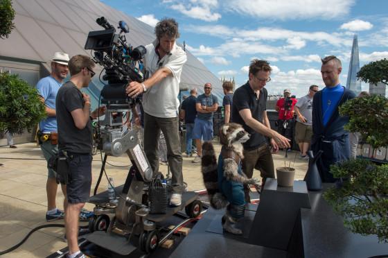 Gunn on set with actor Sean Gunn
