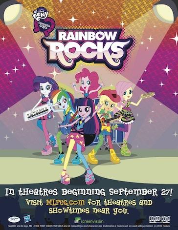 My Little Pony: Equestria Girls Rainbow Rocks Movie Poster