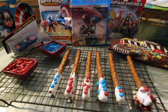 Candy Covered Pretzel Sticks rolled in M&Ms Minis - #HeroesEatMMs #CBias #CollectiveBias #Shop