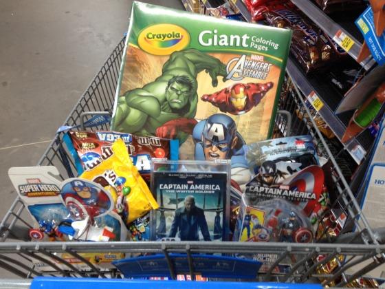 My Captain America Supplies - #HeroesEatMMs #CBias #CollectiveBias #Shop