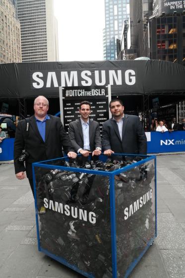 Ditch Box and Samsung Executives Jay Kelbley, Ron Gazzola, Jose Hernandez