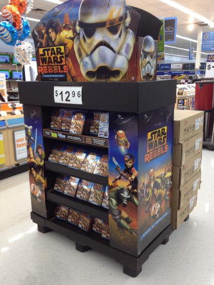 Star Wars Rebels Walmart Exclusive DVD - In Store Display - #SparkRebellion