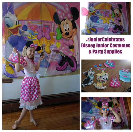 #Junior Celebrates - Disney Junior Costumes - Minnie Mouse Costume and Party Decorations