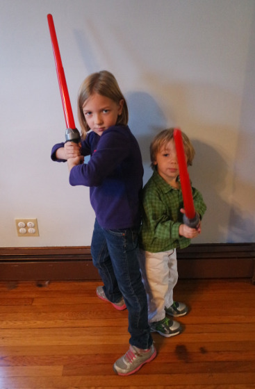 Two young Padawans with the Inquisitor's Lightsaber from Star Wars Rebels - #SparkRebellion