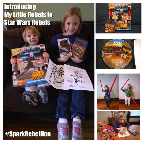 I am Introducing my Kids to Star Wars through the new show Star Wars Rebels - #SparkRebellion