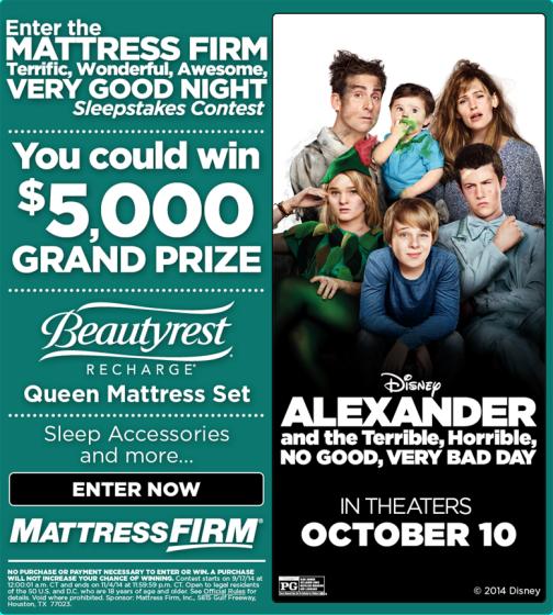 Mattress Firm Alexander Contest