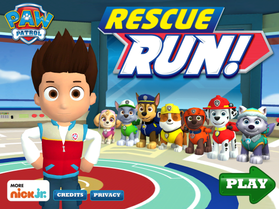 Paw Patrol Rescue Run has Added new pup, Everest