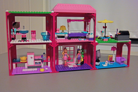 The Assembled MEGA Bloks Barbie Fab Mansion